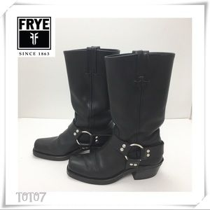 Frye Harness Ring Leather Boot  Black